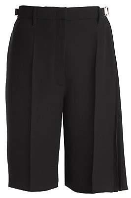 Prada Women's Belted Draped Technical Dress Shorts