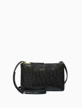 Calvin Klein embossed logo crossbody bag