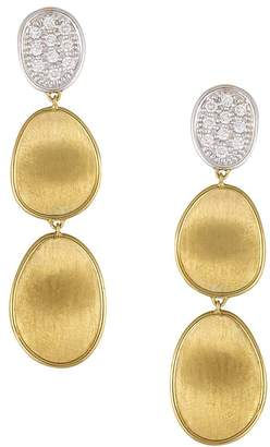 Marco Bicego Diamond Lunaria Three Drop Small Earrings in 18K Gold