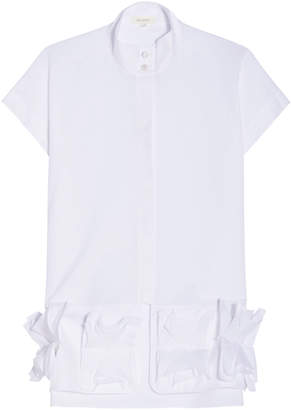DELPOZO Sleeveless Ruffle Top
