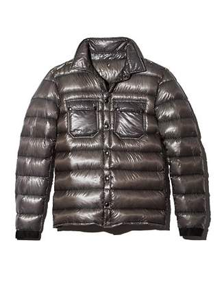 Isaora Metallic Down Overshirt Jacket