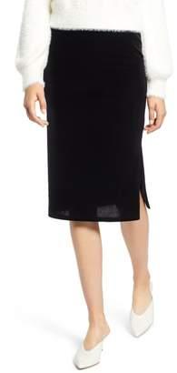 Halogen Velvet Pencil Skirt