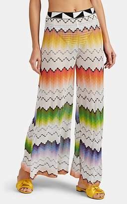 Missoni Mare Women's Zigzag-Knit Wide-Leg Pants - White