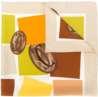 Cartier Pre-Owned square print foulard
