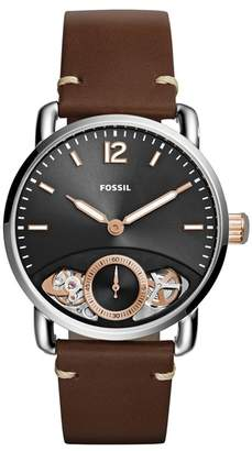 Fossil Men's Commuter Leather Strap Watch, 42mm
