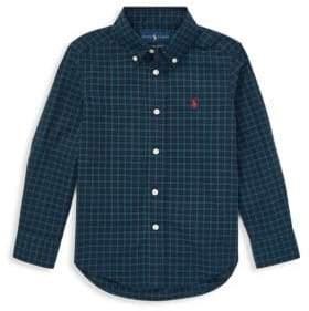 Ralph Lauren Little Boy's Plaid Poplin Shirt