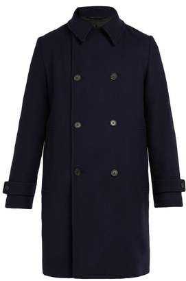 Stella McCartney Double Breasted Wool Twill Coat - Mens - Navy