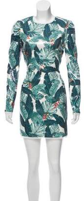 Rachel Zoe Embellished Printed Dress w/ Tags