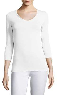 Majestic Filatures Soft Touch V-Neck Tee
