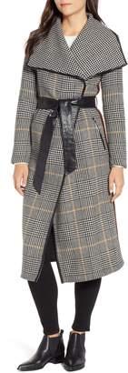 Mackage Plaid Belted Wool Blend Coat