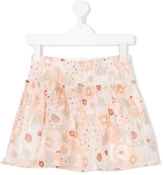 Chloé Kids floral print skirt