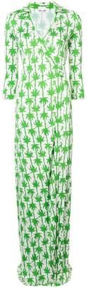 Diane von Furstenberg palm print maxi dress