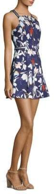Parker Ronen Floral-Print Fit-&-Flare Dress