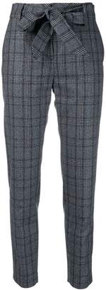 Eleventy checked belted trousers