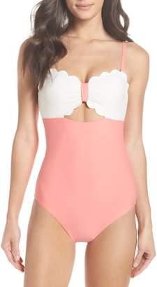 Chelsea28 Scallop Bandeau One-Piece Swimsuit