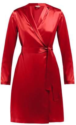 La Perla Carmine Silk Satin Robe - Womens - Red