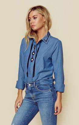 Gone With The West CHAMBRAY MONTANA BLOUSE