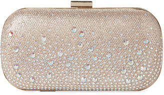 Jessica McClintock Rose Gold Emme Sparkle Convertible Clutch