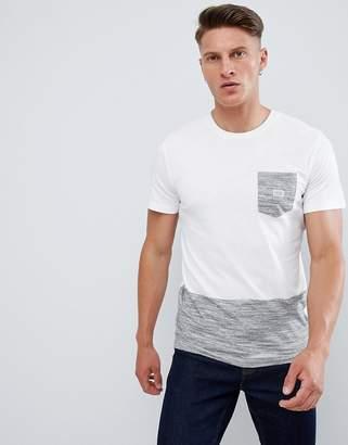 Jack and Jones Originals Pocket T-Shirt With Block Panel