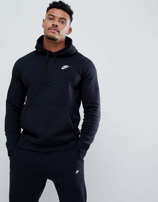 46d81085284d Nike pullover hoodie with swoosh logo in black 804346-010