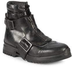 Diesel Leather Buckle Boots