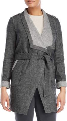 BB Dakota Contrast Open Belted Coat