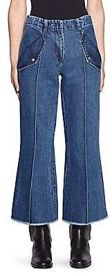 Acne Studios Women's Cropped Flare Jeans