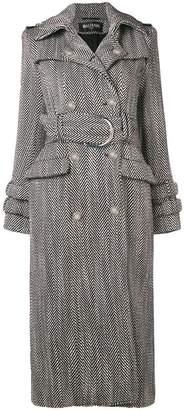 Balmain herringbone classic coat