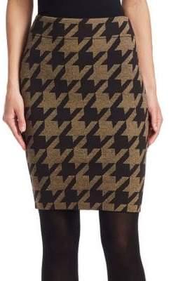 Akris Punto XL Houndstooth Jacquard Pencil Skirt
