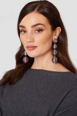 MANGO Tassels Pendant Earrings Bright Pink