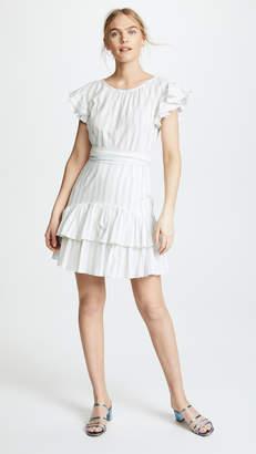 Rebecca Taylor Stripe Ruffle Dress