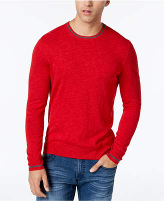 INC International Concepts I.n.c. Men's Contrast-Trim Knit Sweater, Created for Macy's