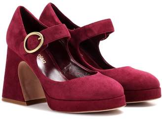 Sies Marjan Millie suede Mary Jane pumps
