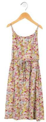 Oscar de la Renta Girls Knit Floral Print Dress