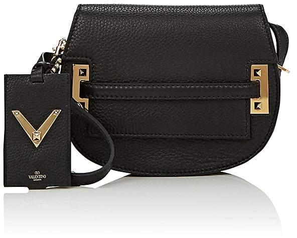Valentino Garavani Women's My Rockstud Leather Saddle Bag