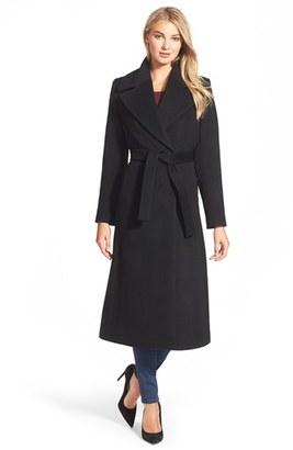 Women's Kristen Blake Long Wool Blend Wrap Coat $408 thestylecure.com