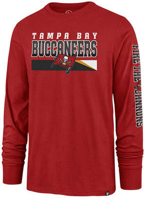 '47 Men's Tampa Bay Buccaneers Level Up Long Sleeve Super Rival T-Shirt
