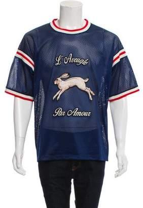 Gucci L'Aveugle Par Amour Mesh T-Shirt