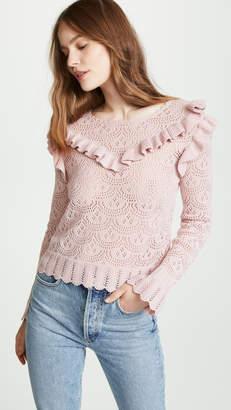 LoveShackFancy Natalie Ruffle Sweater