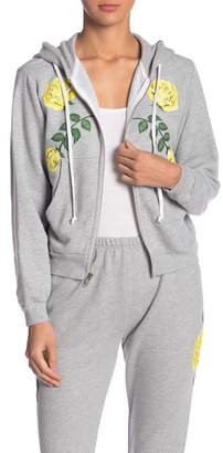 Wildfox Couture Friendship Roses Zip-Up Hoodie