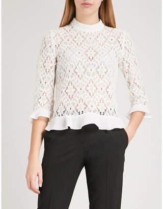 Claudie Pierlot Barcelone lace blouse