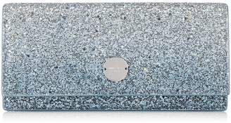 Jimmy Choo FIE Silver and Dusk Blue Fireball Glitter Degrade Fabric Clutch Bag