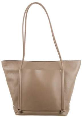 Building Block Grained Leather Zip Tote silver Grained Leather Zip Tote