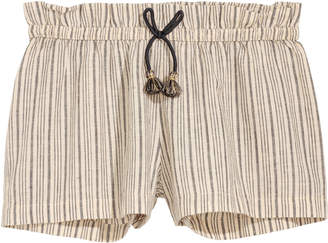 H&M Striped linen-blend shorts