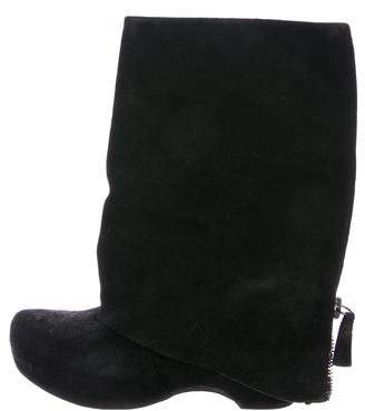 Vera Wang Pointed-Toe Platform Ankle Boots