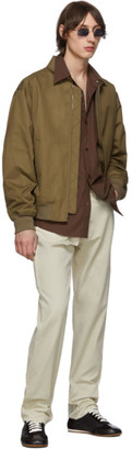 Lemaire Tan Cotton Bomber Jacket