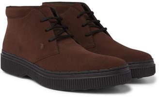 Tod's Nubuck Desert Boots - Brown