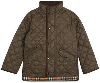 Burberry Brantley Quilted Snap Jacket, Size 3-14