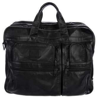 Tumi Leather 3-Zip Briefcase