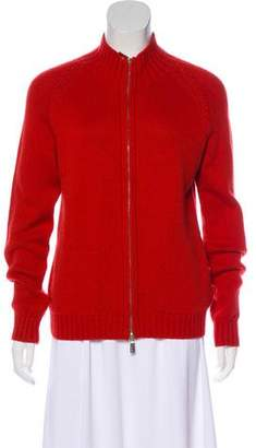 Malo Cashmere Zip-Up Cardigan